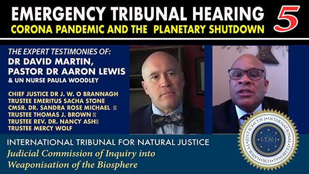 Corona Emergency Hearing 5 Dr David E Martin and Pastor Dr Aaron Lewis 2020-05-07